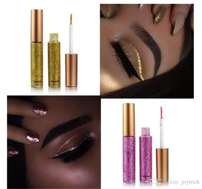 Maquillage Glitter EyeLiner Brillant Longue Durée Liquide Doublure Eye Liner Shimmer eye liner Crayons Ombre À Paupières avec 10 couleurs pour choisir