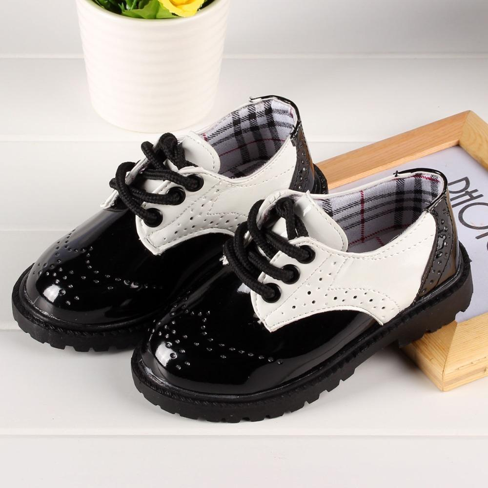 Kids Wedding Shoes Patent Leather Shoes For Boy Baby Boy