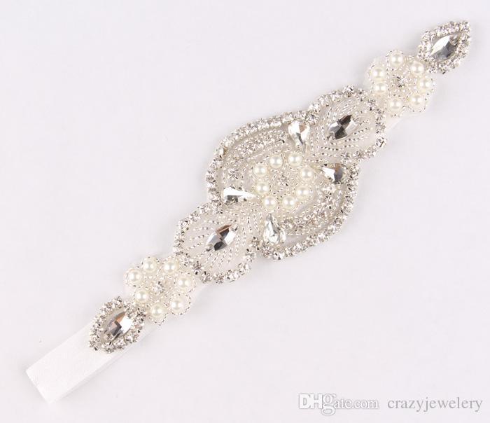 Baby Headbands With Shine Beaded Rhinestone Elastic Luxury Crystal Hairbands Bridal Hair Accessories For Girl Wedding Hair/Corsage