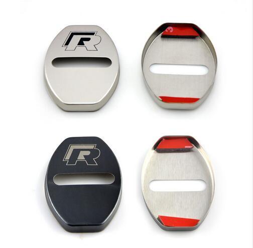 Car-Styling Door Lock Cover Case For VW Volkswagen R Line Golf 7 Passat B5 B6 B7 MK4 MK6 MK7 RLine CC Accessories Car Styling