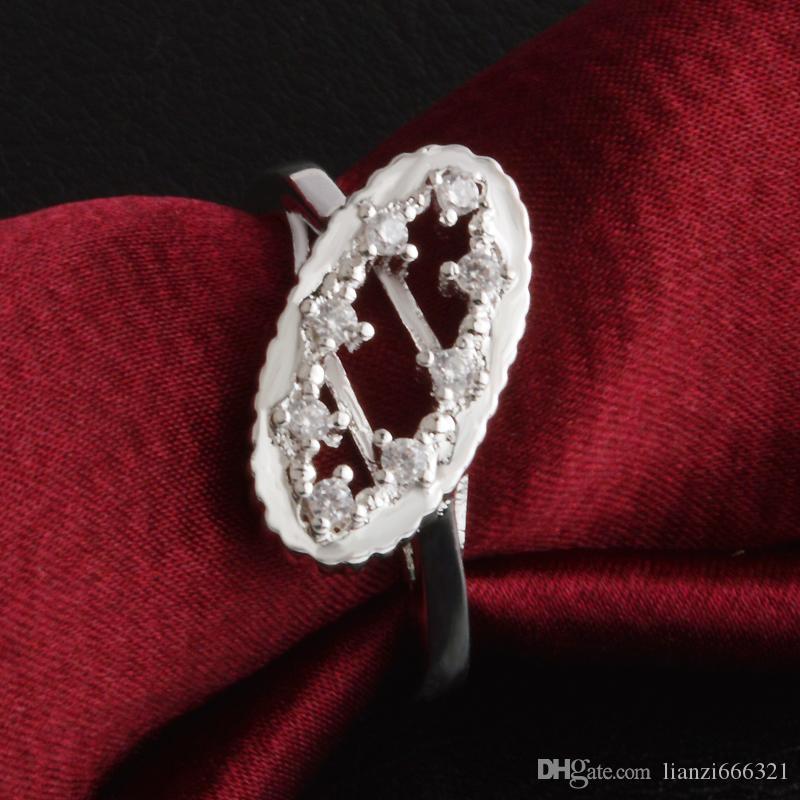 Livraison Gratuite Nouveau 925 Sterling Silver bijoux de mode couronne impériale tchèque bague de forage vente chaude fille cadeau 1485