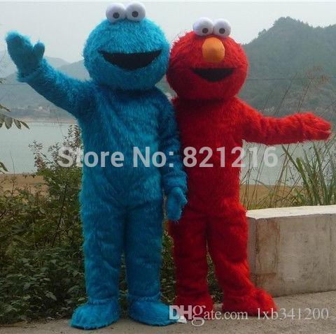36807108e9 Sesamstraße Elmo rouge bleu Cookie Monster Kostüm des Maskottchens der  animaux livraison gratuite