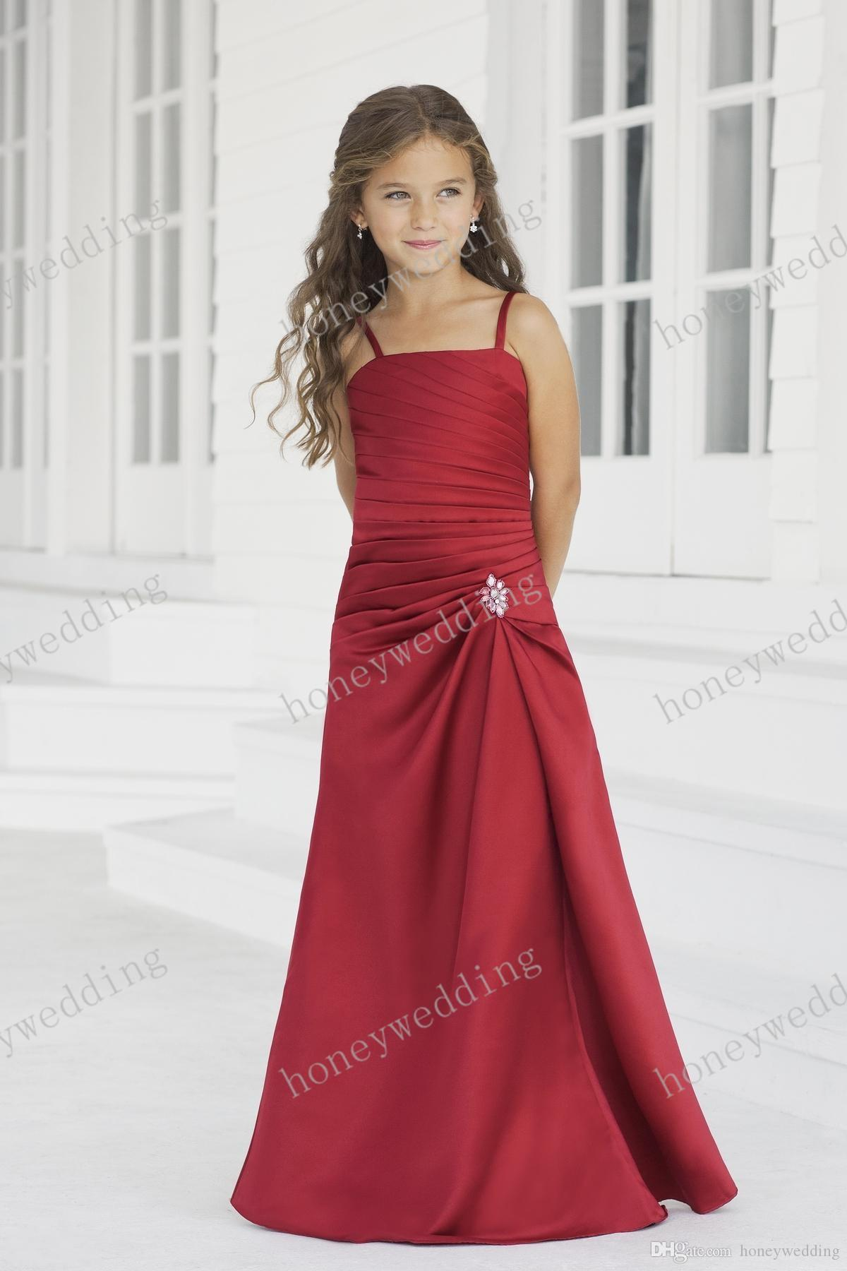 Flower girl dress red color