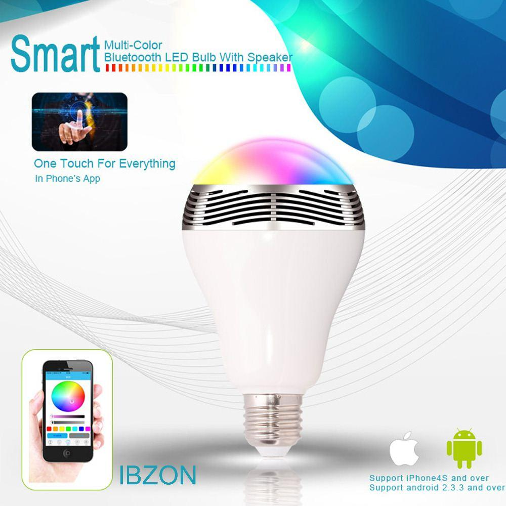 Smart Bulb Wireless Bluetooth Audio Speakers 3W E27 LED RGB Light Music Bulb Lamp Color Changing via WiFi App Control