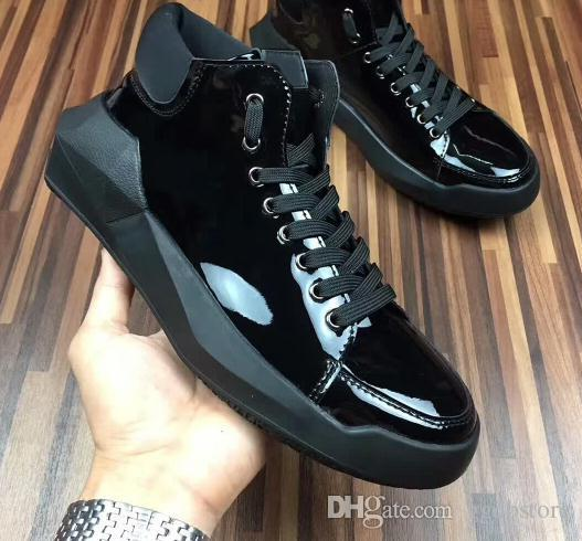 7113c686220 New Style Y 3 Shoes Hot Sale Y3 Qasa Men Genuine Leather High Shoes Eu Size  38 45 Size Flat Shoes Yellow Shoes From Ggdbstore