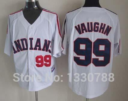... Cool Base Jersey - Ricky Vaughn 2017 Factory Outlet Custom Mens Womens  Kids Cleveland Indians 99 Rick Vaughn White Blue Grey 100 ... c913e9430