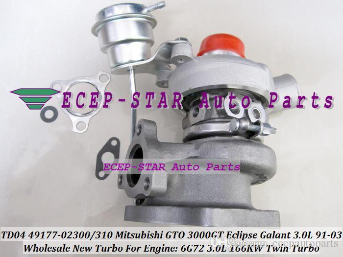 TD04 49177-02300 49177-02310 tek 1 adet Ikiz Turbo Turbo MITSUBISHI GTO 3000GT Eclipse Galant Dodge Stealth Için 1991-03 6G72 3.0L