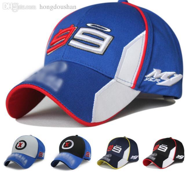 Wholesale Men 99 Racing Cap Sports F1 Motorcycle Car Race Visors Baseball Black Blue Color Richardson Caps Customized Hats From Hongdoushan