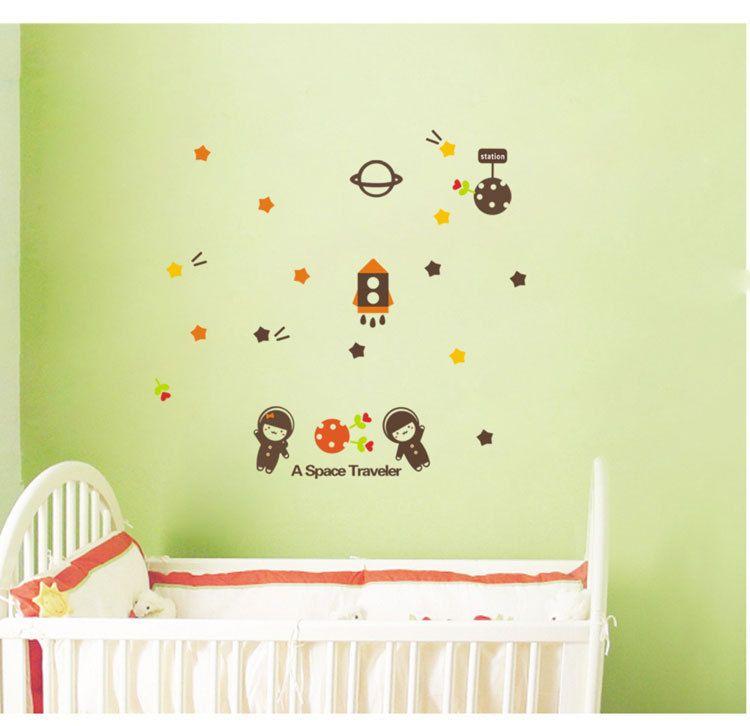 Cartoon World Map Wall Art Decor Kids Learning Living Room ...