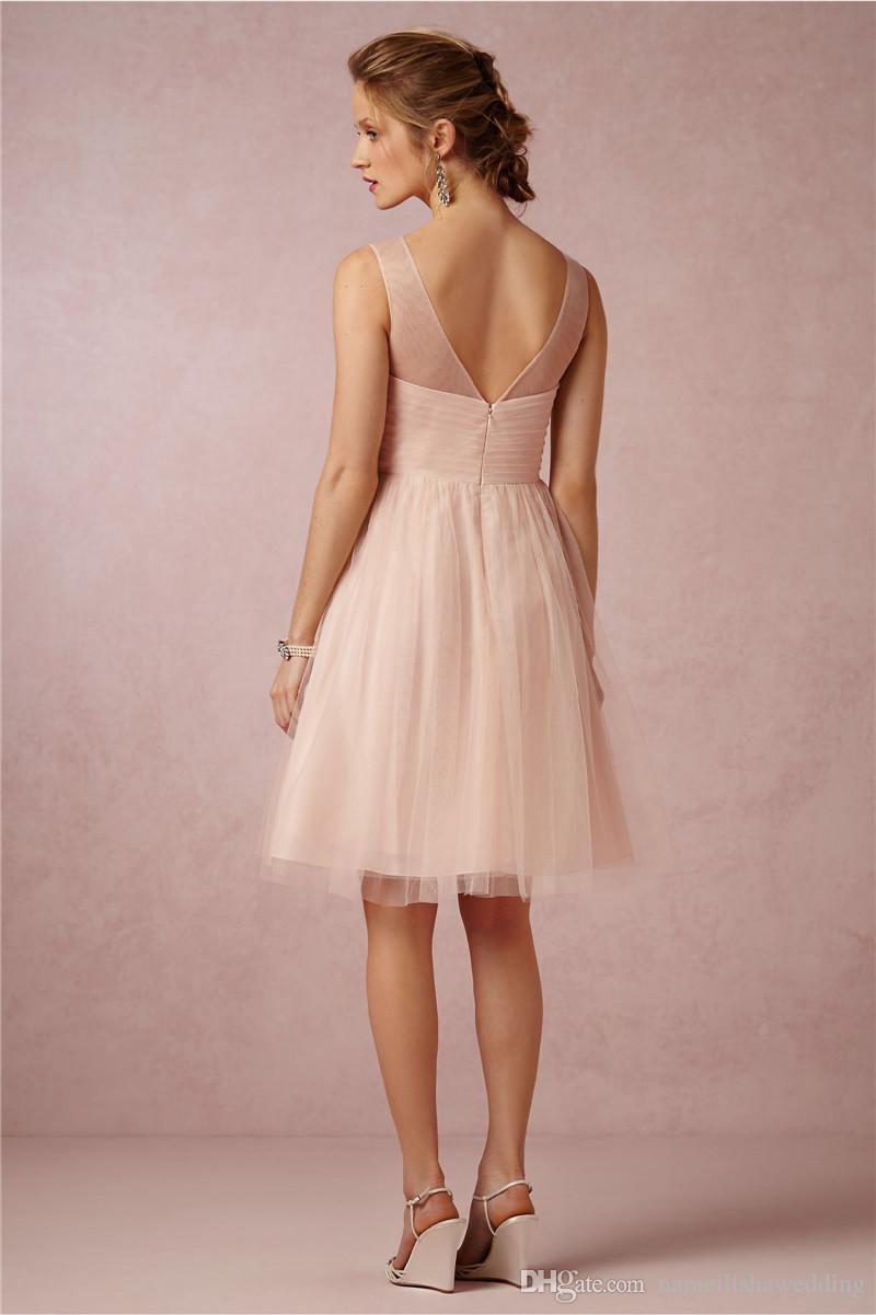2015 Short Bridesmaid Dresses Cheap Under 100 Knee Length