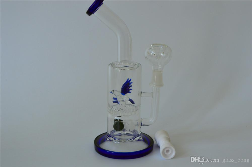 뜨거운 판매 새로운 유리 물 파이프 조류 Percolator dab rigs 헤드 숍 다채로운 흡연 물 파이프와 세라믹 손톱 물 담뱃대 무료 배송