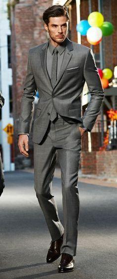 Wholesale - New Arrival Top Selling Groom Tuxedos,grey Ceremony Suit Groomsman Suit Boy's Suit Jacket+Pants+VestBridegroom Suit