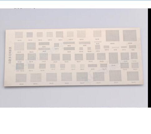 55 types soldering stencil template for phone ic chipset resodering repair work