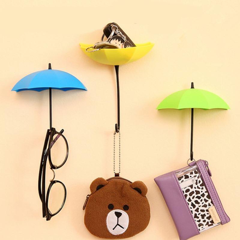 2018 Creative Umbrella Shape Clothes Key Hat Holder Wall Hook ...