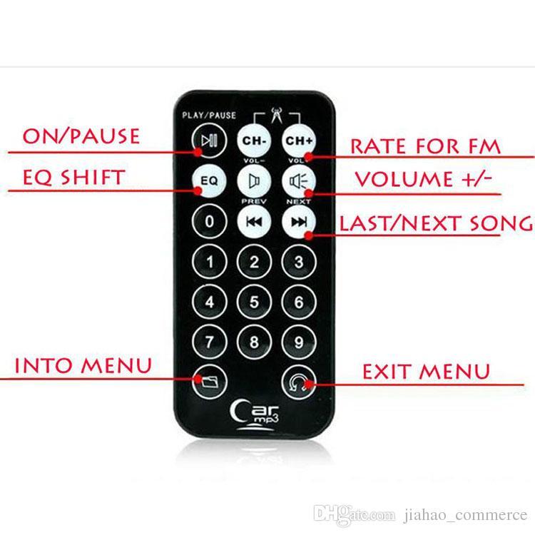 새로운 자동차 키트 MP3 플레이어 무선 FM 송신기 변조기 WMA 무선 USB SD MMC LCD 원격 파란색 / 붉은 빛