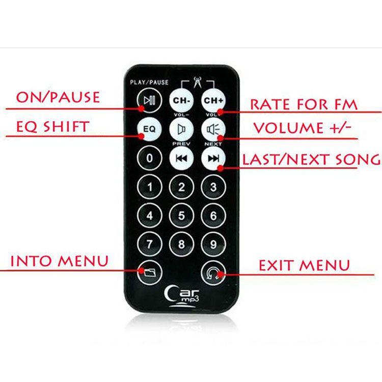 New Car Kit MP3 Player Wireless FM Transmitter Modulator Wma Wireless USB SD MMC LCD With Remote ...