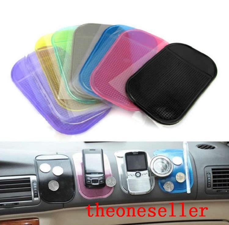 Хорошее качество Мощный силикагель Magic Sticky Pard Держатель для автомобиля, не противоскользящий PU Коврик Моющийся для телефона / очки / GPS DHL Доставка