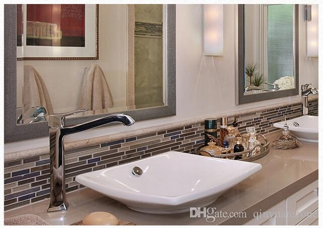 Glass Stone Mosaic Tiles Kitchenroom Backsplash Wall Cladding