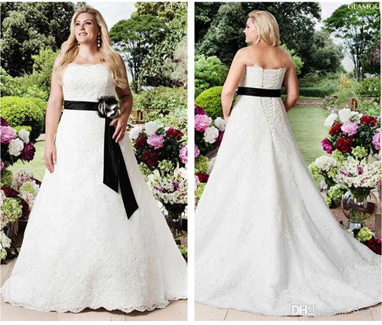 Cheap Ivory Wedding Dresses Short Sleeves Discount Modest White Black Lace
