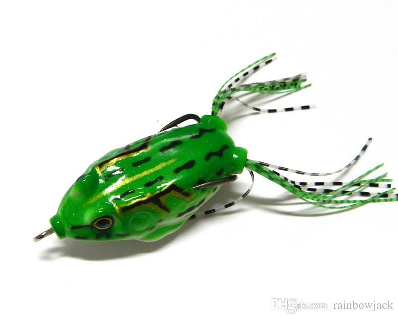 Freshwater Crankbait Snakehead fishing Lure 5.5cm 12.5g 3D eyes Topwater Floating soft Ray frog plastic popper bait