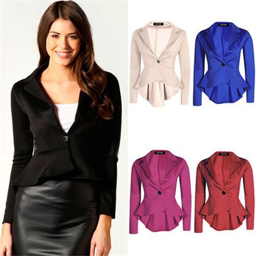2017 New 2015 Petticoats Women Ladies Jacket Coats Long Sleeve ...