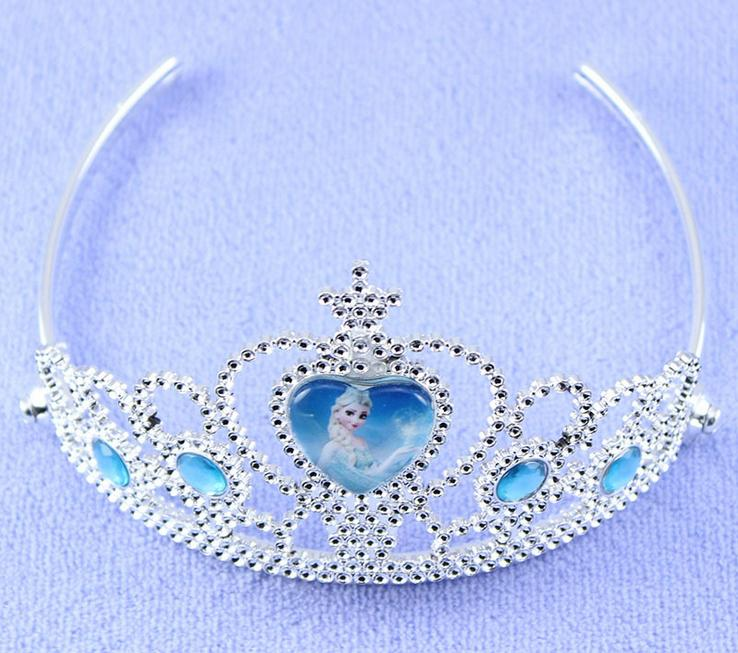2015 Venta caliente congelado Tiaras Girls Party Corona Shinning Party Accesorios para Niños Unique Frozen Queen Hair Boutique Childern Tiaras CS25