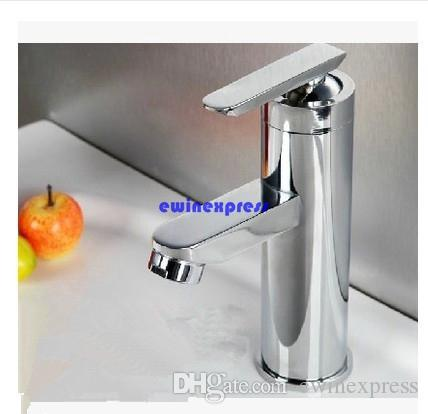 Modern Bathroom Basin Sink faucets Tap Brass Chrome Faucet Waterfall spout design Single Handle Hot/Cold Water Bathroom accessories