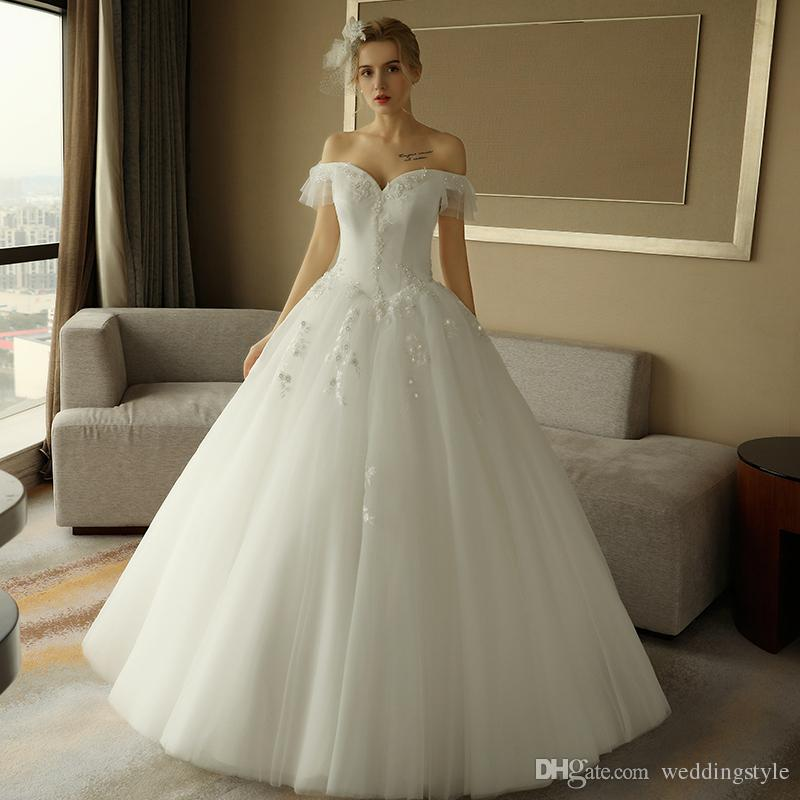 Designer Brand New A Line 2018 Plus Size Lace Ball Gown Wedding ...