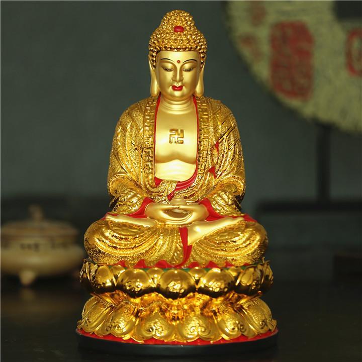 Compre Shenzhen Al Por Mayor Estatuas Chapadas En Oro Pintado Artesanías De Resina  Buda Sakyamuni Buda 38 Cm D Modelos A  302.36 Del Zhoudan5245  4303a904b0a