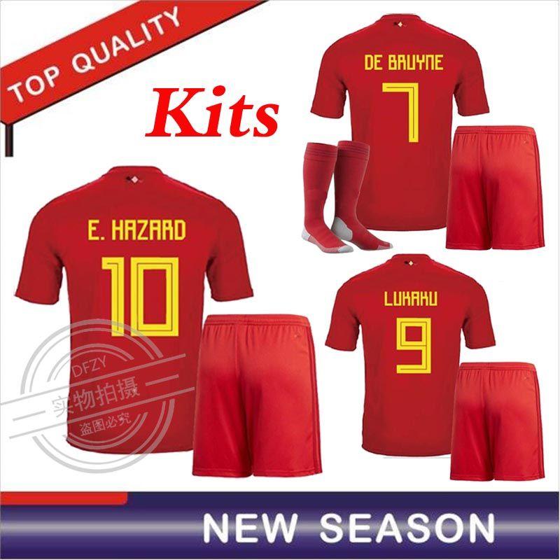 Belgium Kits 2018 World Cup Home Red LUKAKU FELLAINI E.HAZARD ... ea1f815fb