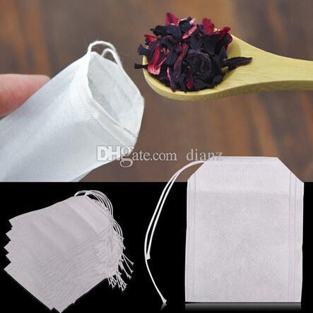 جديد وصول أكياس الشاي الفارغة أكياس الشاي سلسلة شفاء ختم مرشح ورقة تيباج 5.5 × 7 سنتيمتر للشاي فضفاض عشبة