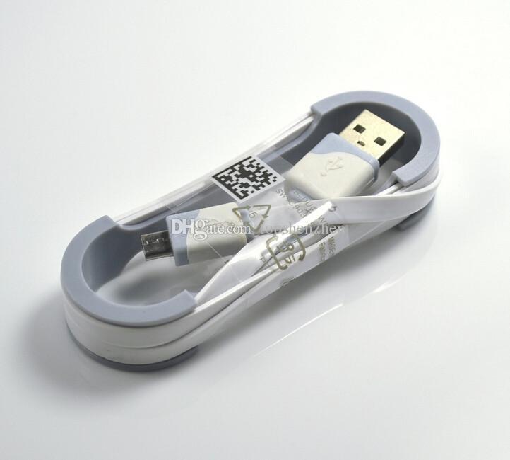 اللون المزدوج المعكرونة شقة مايكرو USB شاحن كابل 1M 3FT مزامنة بيانات الشحن الحبل للهواتف سامسونج S5 S6 HTC M8 M9 الروبوت مايكرو كابل USB