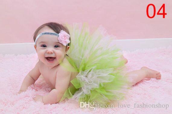 9 kleuren babymeisje kinderen tutu rokken + breien hoofdband sets newborntoddler outfit fancy kostuum schattige foto suits verjaardagscadeau