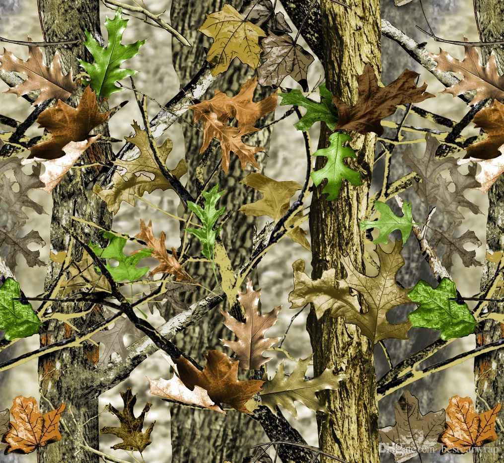 Pusu Askeri Camo Vinil Wrap Hava Yayını Ile Araba Sarma Için Yosunlu Meşe Ağacı Yaprak Kamuflaj Etiket Boyutu 1.52 x 30m / Rulo