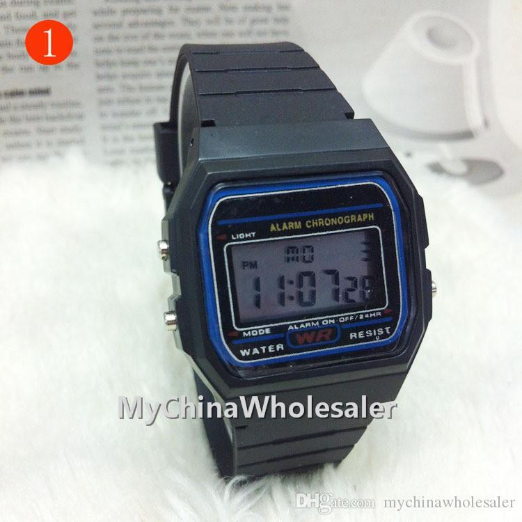 무료 배송 디지털 디스플레이 캐주얼 시계 패션 울트라 얇은 LED 손목 시계 남성 여성 Unisex 스포츠 시계