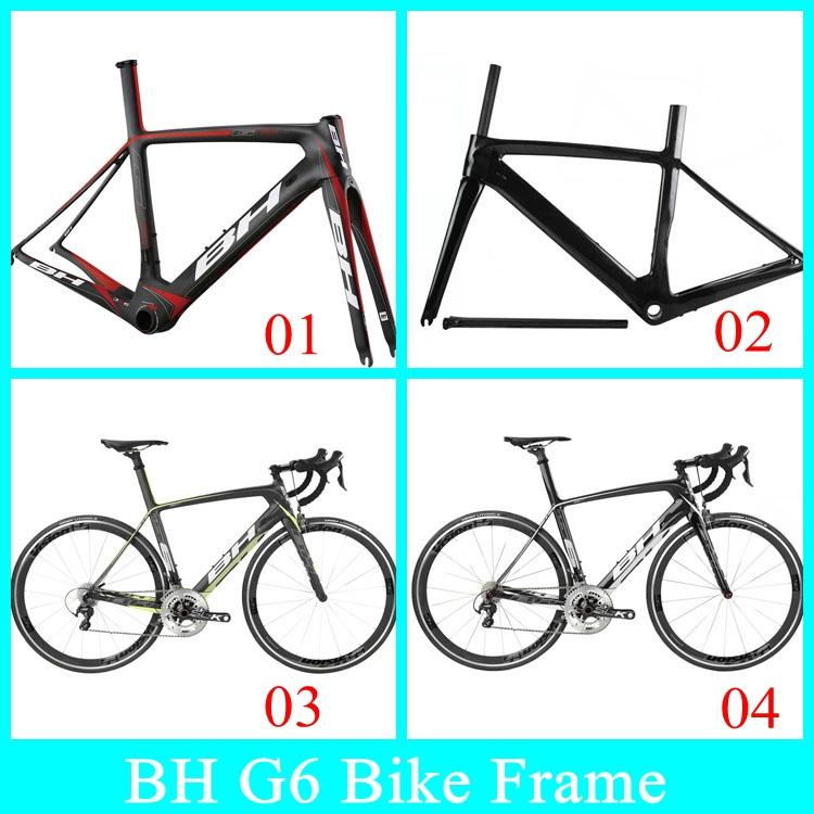 Bh G6 Carbon Bike Frame Bsa Bb30 3k Real Carbon Weave Road Cycling