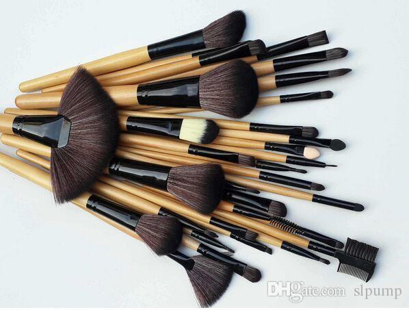 set kit pinceau de maquillage professionnel set pinceaux de maquillage cosmétique cheveux synthétiques rose boîtier noir gratuit dhl