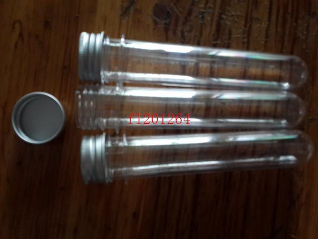 40ml Transparent Mask Bath Salt Test PET Tube 40cc Clear Plastic Cosmetic Tube With Aluminum Cap ,