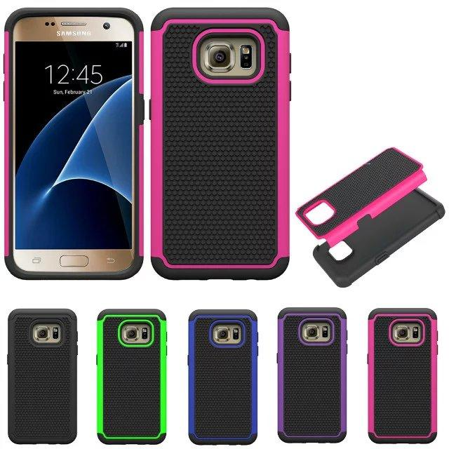 For Samsung Galaxy A310 A510 A3 A5 2016 S7 edge Football skin Heavy Hybrid Armour Duty Defender Hard plastic rubber TPU case cover