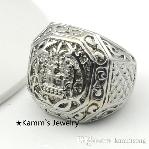 Ring Men Fashion Big Rings For Mens Church Cross Pattern Finger