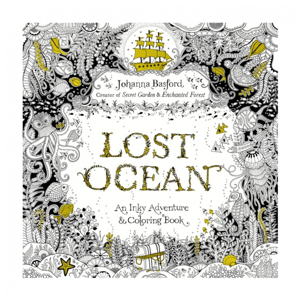 Dhl Free Lost Ocean English Edition Coloring Books For Children
