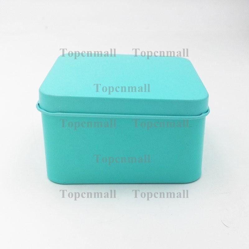8.5 * 8.5 * 4.5 cm de Alta Qualidade Colorido Caddy De Chá Caixa De Lata De Armazenamento De Jóias Caixa De Metal Quadrado Mini Caixa De Doces TPML-0682