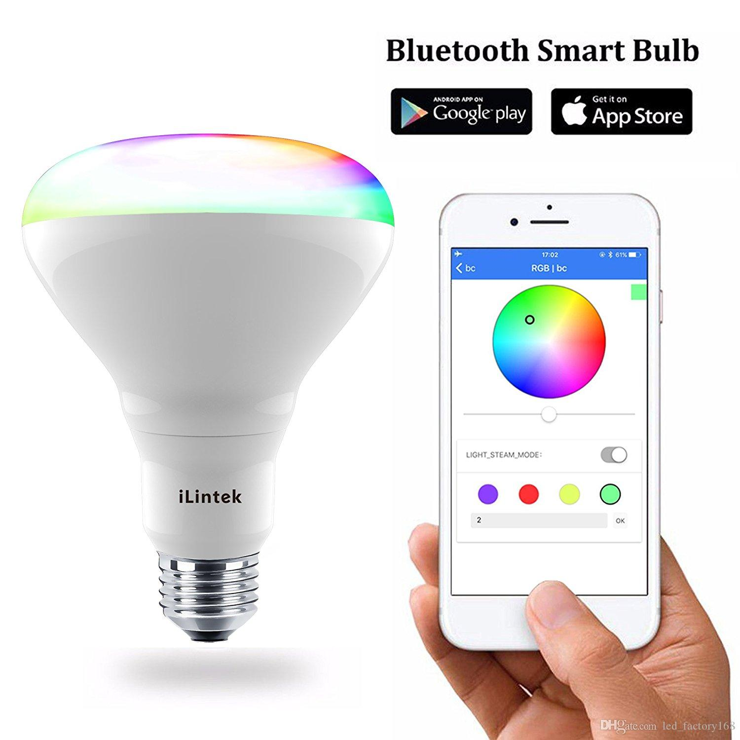 Smart Led Light BulbAdjustable Color Changing Flood BulbMulticolor 9W65W Equivalent Dimmable Sunrise Sunset Sleeping Party Musi Bulbs Cfl
