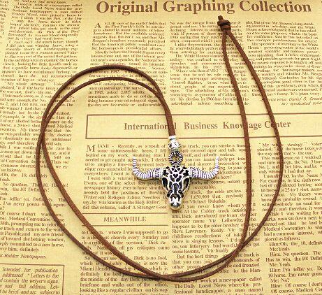 Hohle Kuh Tauren Rinder Ox Schädel Anhänger Halsketten lange Pullover Kette tibetischen Silber Lederband Vintage-Schmuck neue 10er