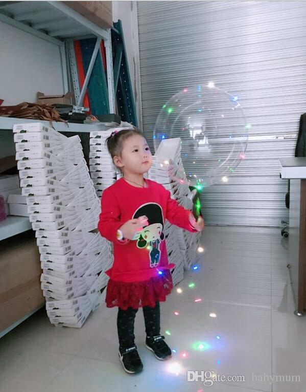 led bobo ball string lights balloons lighted colored light for Christmas Halloween Wedding Party children toy home Decoration lights balloon