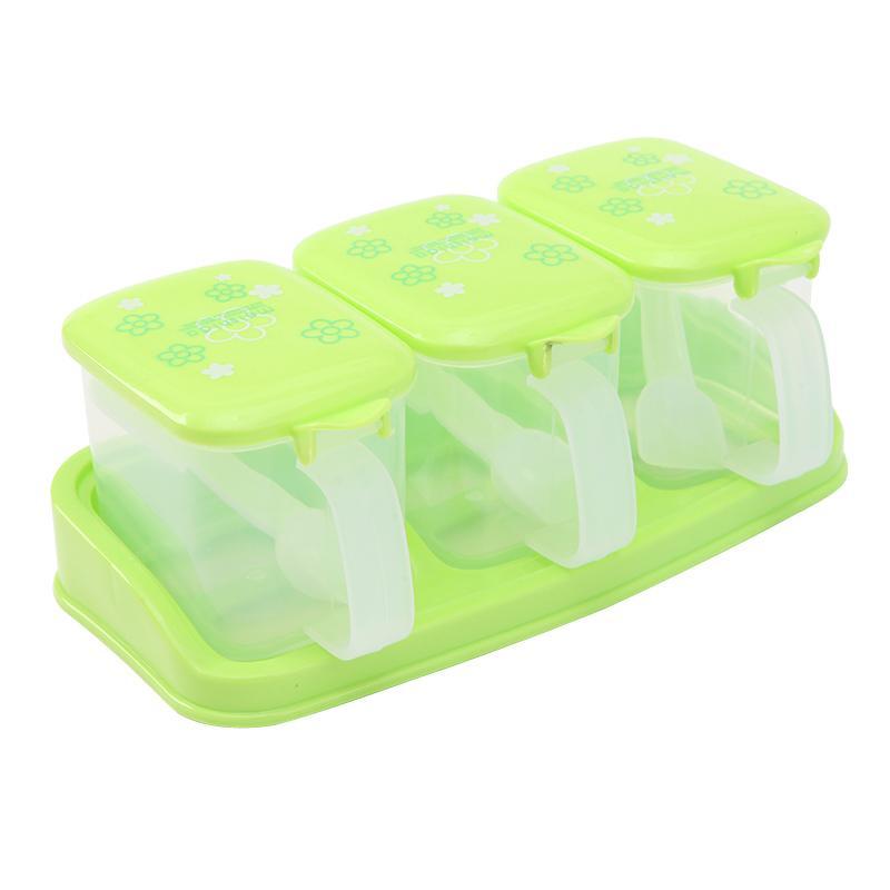 2018 Wholesale Plastic Spice Sauce Multi Grid Seasoning Box For Jar