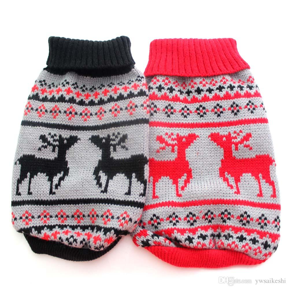 Cat Christmas Sweater.Dog Cat Christmas Sweater Hoody Reindeer Design Pet Jacket Jumper Coat Clothes Apparel 5 Sizes Available