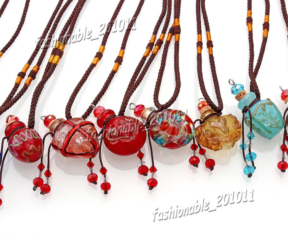 glass essential oil diffuser necklaces pendant empty small vial necklace aromatherapy pendant vintage perfume bottle pendant necklaces