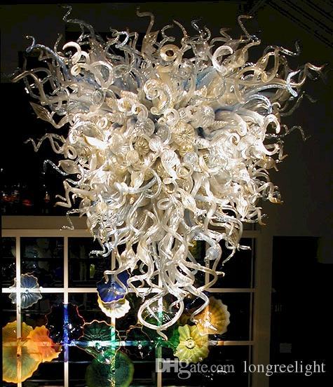 العتيقة داخلي بيع الثريا الإضاءة الساخن أدى ضوء المصدر الطراز الأوروبي يدوية زجاج الثريات الضوء