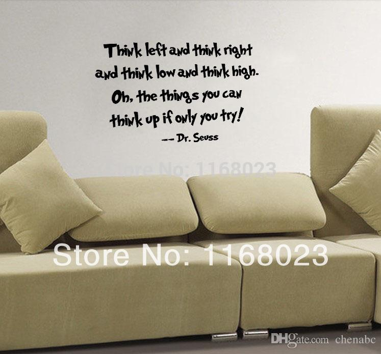 Think Left Think Right Dr Seuss Wall Decal Quote Art Vinyl Decals